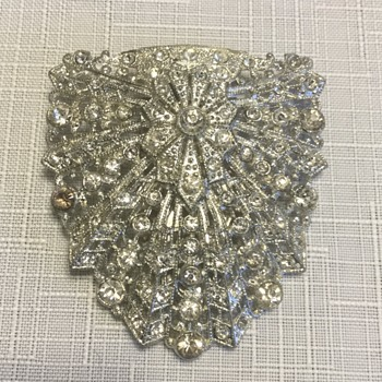 Silvery Sweet — New England Glass Works Brooch/Clip Plus  - Costume Jewelry