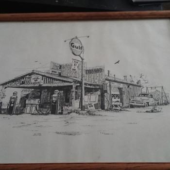 Gulf Gas Station, 1978 - Fine Art