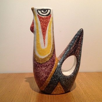 a Modernist Cockerel Vase or Jug - Pottery