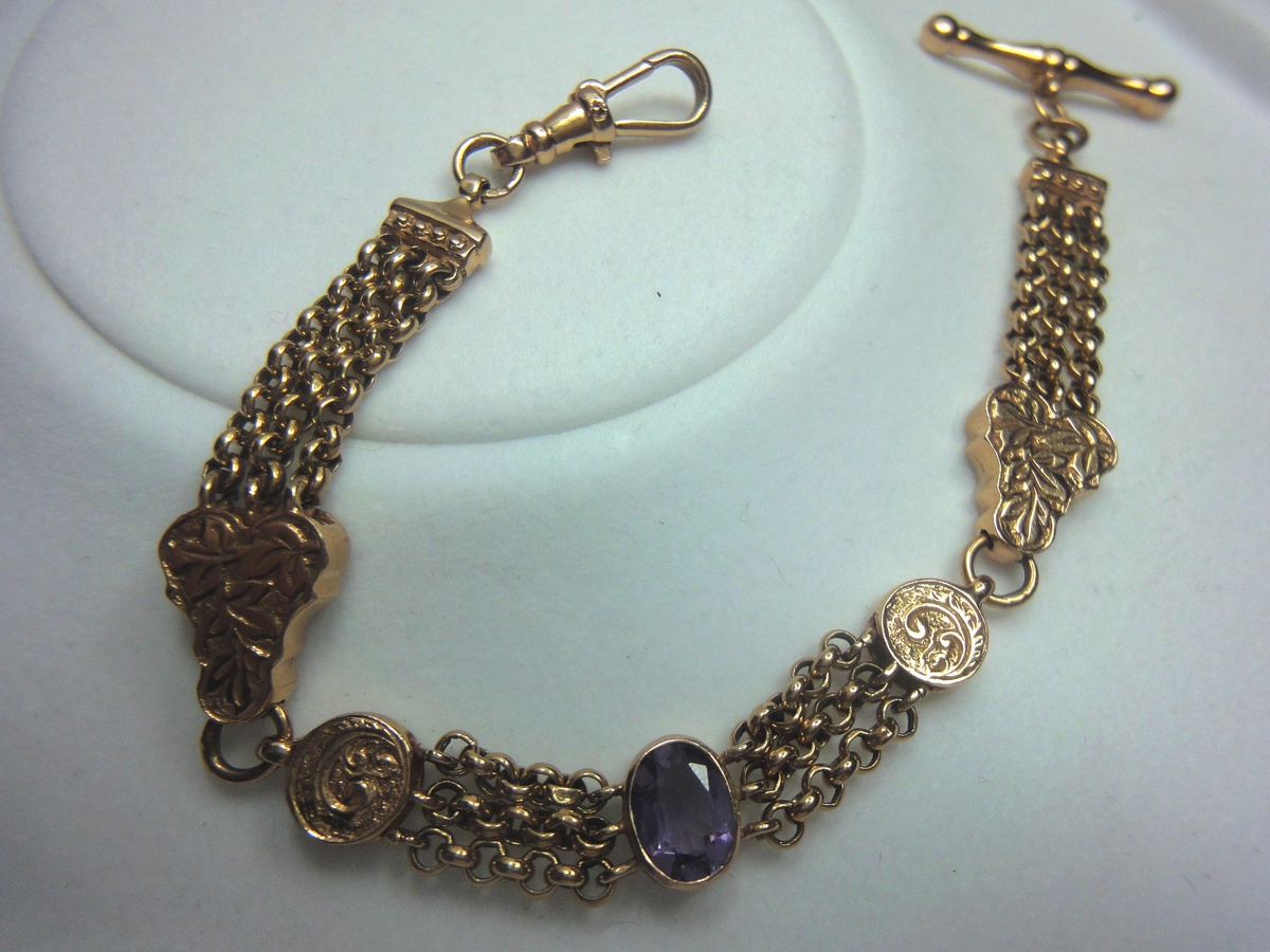 1844 Rose Gold watch chainbracelet Collectors Weekly