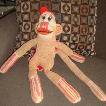 Vintage Sock Monkey - Folk Art