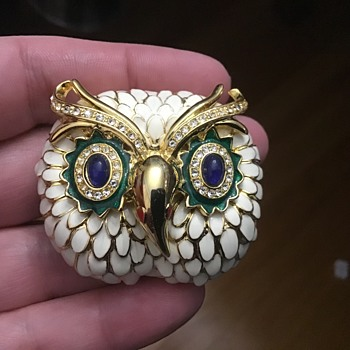 Kenneth Lane owl - Costume Jewelry