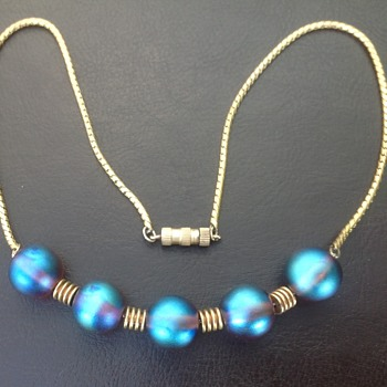 WMF Myra Krytall Glass Bead Necklace - Art Deco