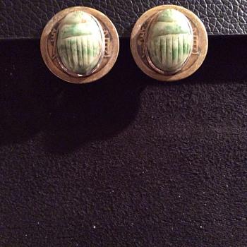 Scarab beetle earrings