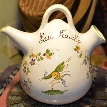 Faience Eau Fraiche - Moustiers Fait Main - Pottery