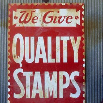 Vintage Stamps Sign  - Signs