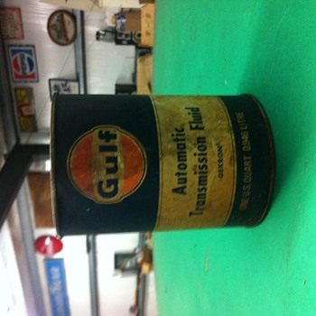 Gulf transmission fluid can - Petroliana