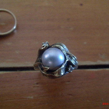 14k pearl and diamond ring  - Fine Jewelry