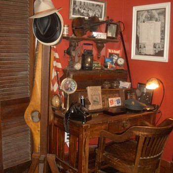 My Craftsman Desk with some of my toys. - Furniture