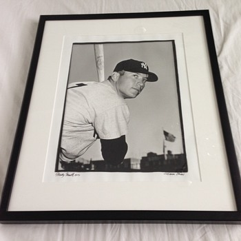 1954 Original Osvaldo Salas Mickey Mantle Photograph - Baseball