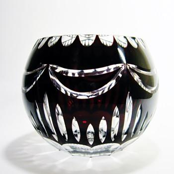 BOHEMAIN OVERLAY CUT CRYSTAL - Art Glass