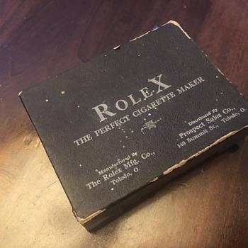 Rolex the perfect cigarette maker - Tobacciana