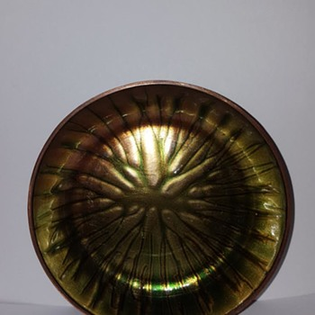 K. Haga Norway Enamel on Copper - Mid-Century Modern