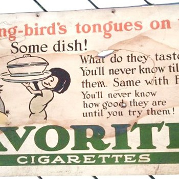 Early 1900's Cardboard Cigarette Advertisement - Tobacciana