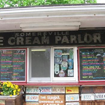 Antique Somersville Conn. Ice Cream Parlour Sign - Signs