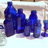 Cobalt Blues Bromo Seltzer Bottles