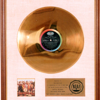 ORIGINAL BEATLES RIAA WHITE MATTE RECORD AWARDS - Music Memorabilia