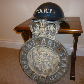 WWII British Police Station Sign - Politics