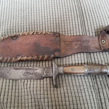Vintage Mexican bowie knife with sheath - Tools and Hardware