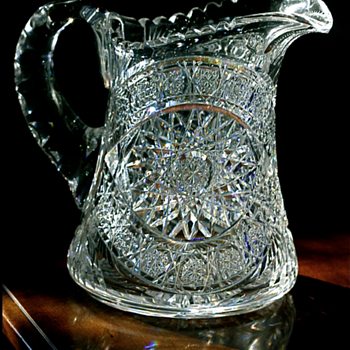 +++ Turn of the Century Cut Glass Pitcher +++ - Glassware
