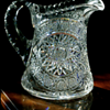 +++ Turn of the Century Cut Glass Pitcher +++