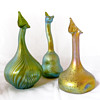 Three Lötz rosewater sprinkler vases