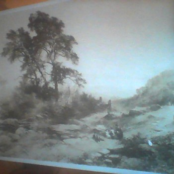 1861 Photo of painting by John Syer    North Wales - Photographs