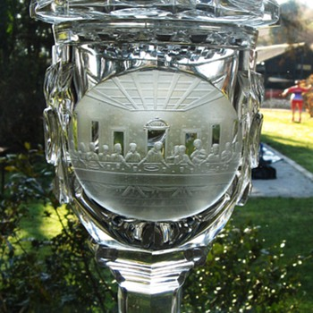 Bohemian Goblet with Cover - Art Glass