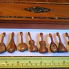 10 Tiny String Instruments!!  AWESOME in Wood Inlaid Box All with Doves, Mother of Pearl!!!