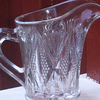 Pressed glass jug - Glassware