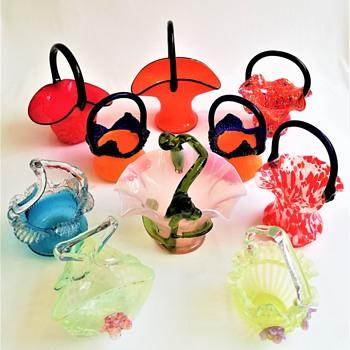 Bohemian and Czech Baskets - Art Glass