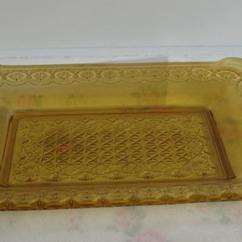 eapg  light amber plate - Glassware