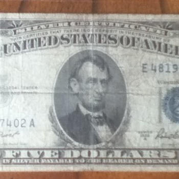 Blue Seal Silver Certificates - US Paper Money