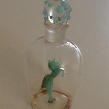 Glass perfume bottle i think ??? - Bottles