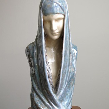 1910s Claire Colinet Symbolist Bust by Marcel Guillard for Editions Etling, Paris - Fine Art
