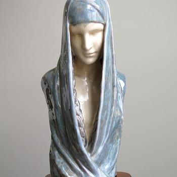 1910s Claire Colinet Symbolist Bust by Marcel Guillard for Editions Etling, Paris