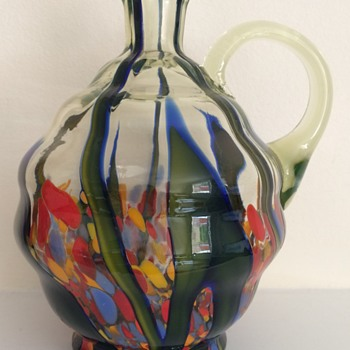 Kralik bambus decanter in uranium glass without stopper - Art Glass