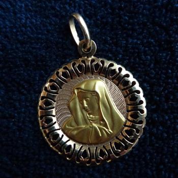 Madonna Charm/Pendant – 10K - Fine Jewelry