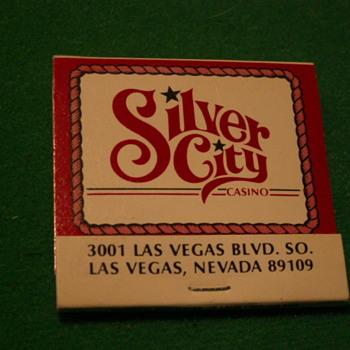 Vintage Silver City Casino Matches ~ Las Vegas, Nevada - Tobacciana