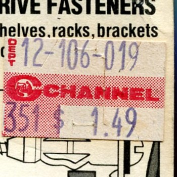 Channel and Woolworth's Price Stickers