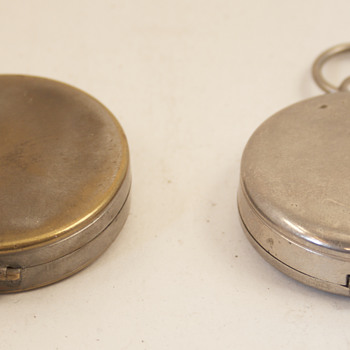 Two Vintage German Made Pocket Compasses - Tools and Hardware