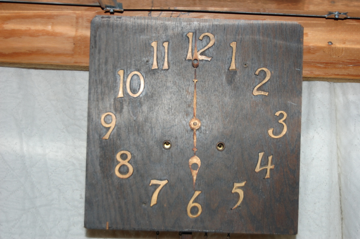 Early Sessions Mission Oak Wall Clock W Faux Chain
