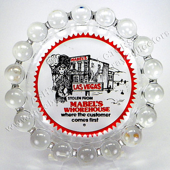 Mabel's Whorehouse Glass Novelty Ashtray - Tobacciana