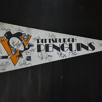 Pittsburgh Penguins  Autographed  Pennant  - Hockey