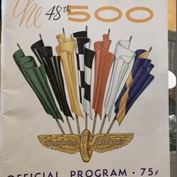 Vintage Indianapolis 500 programs - Paper