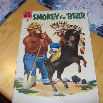 1956 smokey the bear 10 cent dell comic book