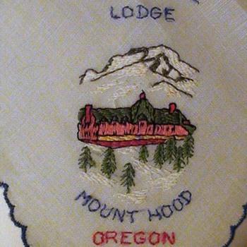 "Timberline Lodge Oregon Vintage Hankie ""The Shining"""