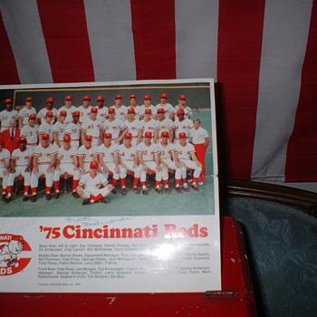 1975 Cincinatti Reds Lineup - Baseball