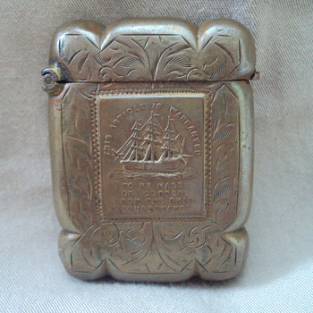 Copper and sterling silver Matchbox Holders. - Tobacciana