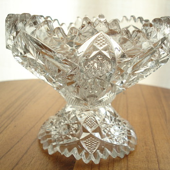 What do you get when you cross a compote and a bowl? A lamp!  - Glassware